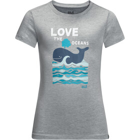 Jack Wolfskin Ocean T-shirt Kinderen, slate grey
